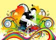 Detaily fotografie funky disco beaty