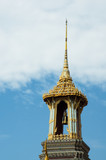 roof of buddhist temple in wat phra kaew, bangkok, thailand poster