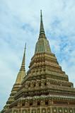 stupas in wat phra kaew, bangkok, thailand poster
