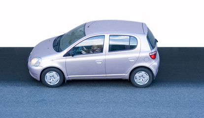 small compact female car isolated