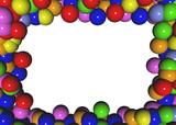 cornice di palline colorate poster
