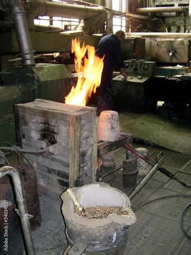 in foundry shop
