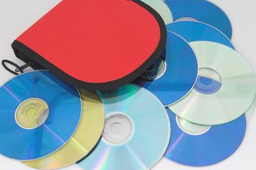 bolsa para llevar cd y dvd