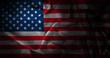 Leinwandbild Motiv silk american flag