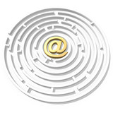 email symbol maze poster