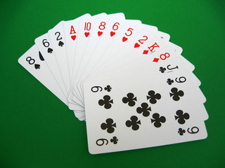 bridge cards - one with four