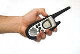 radio communication walkie talkie poster