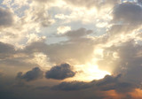 dramatic cloudy summer sky poster