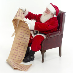 santa checking his list