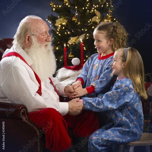 begging santa for toys