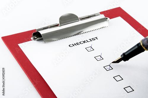 Poster checklist