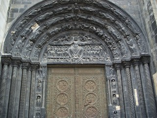 paris - saint-denis basilica - west door