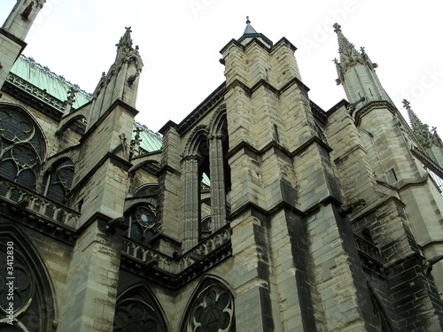paris - saint-denis - basilica buttresses