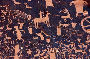 Petroglyphs at Indian Creek, Utah