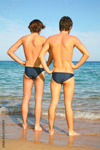 two men on a beach