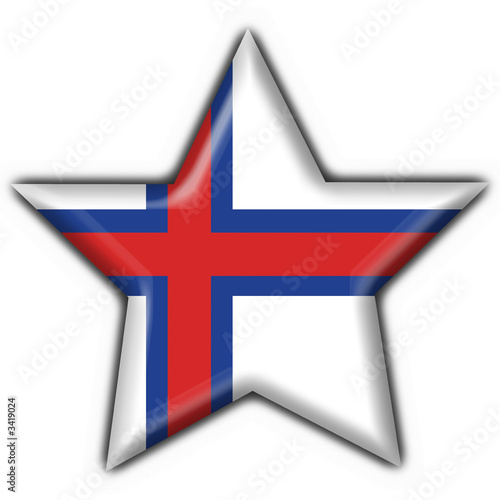 bottone stella fareo - færøerne star button flag