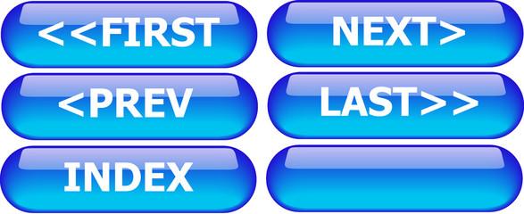 navigation buttons blue