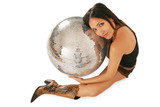 woman and discoball poster