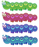 4 funny caterpillars