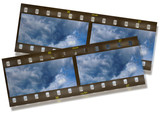 panoramic film frame poster