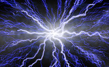 radiating lightning poster