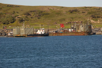 huge barge.