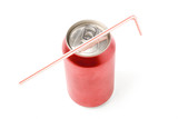 red blank soda can poster
