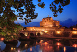 castel di angelo fortress in rome poster