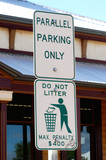 panneau de circulation poster