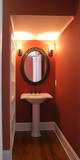 powder room in rich colors poster