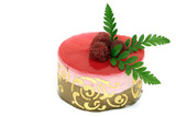 raspberry mousse cake poster