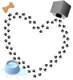 puppy love paw prints trail poster