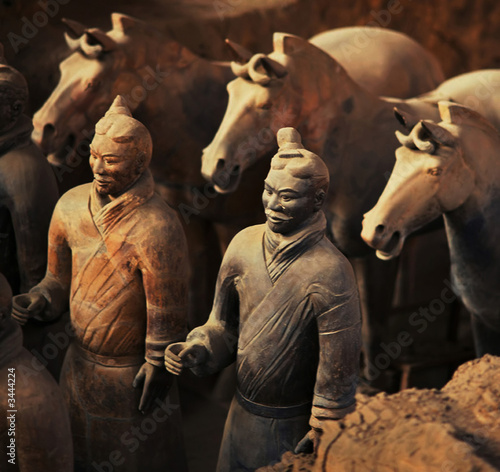 Aluminium Xian warriors and horses