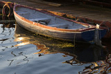 rustic rowboat poster