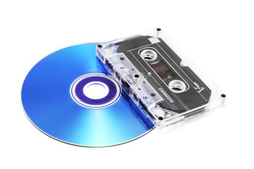 tape cassette and digital compact disk (isolated o