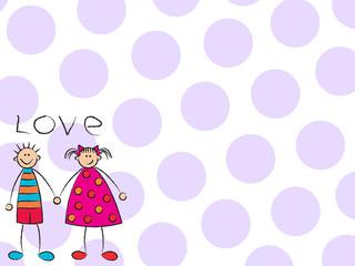 boy + girl = love (purple)