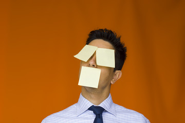 postit over the face