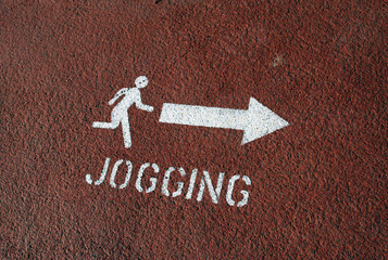 jogging sign on the ground