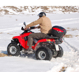 fun with quad on snow