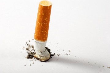 stub of cigarette