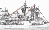 navy sketch poster