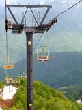 russia, sochi, caucasus, pendant road to mountain poster