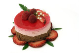 valentine strawberry mousse cake poster