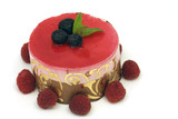 fruit mousse cake poster