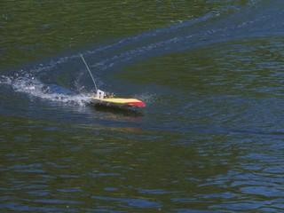 yellow motor boat #1