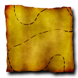ancient treasure map poster