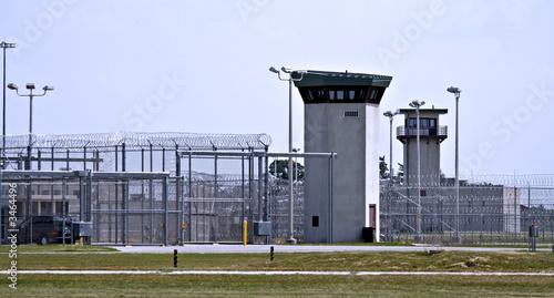 canvas print picture prison - fences