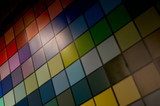 color scheme with tiled squares poster