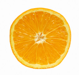 orange segment isolated object