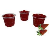 strawberry gelatin dessert poster